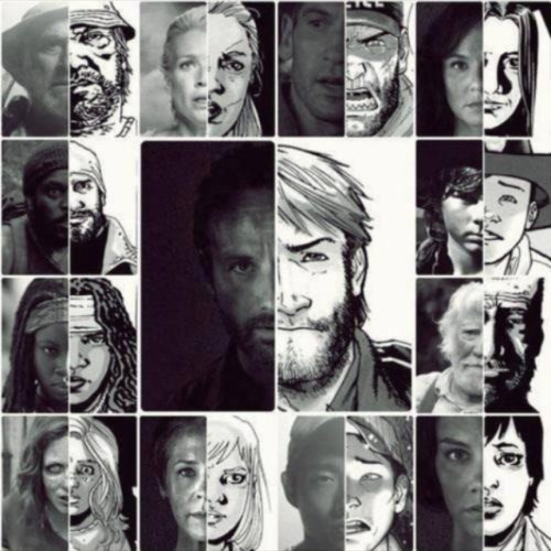 walking dead comic vs show characters