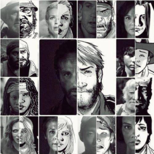 walking dead comic vs show characters