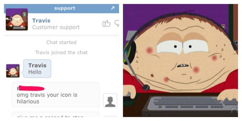 customer support south park icon