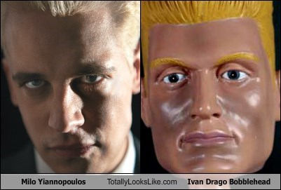 Milo Yiannopoulos Totally Looks Like Ivan Drago Bobblehead