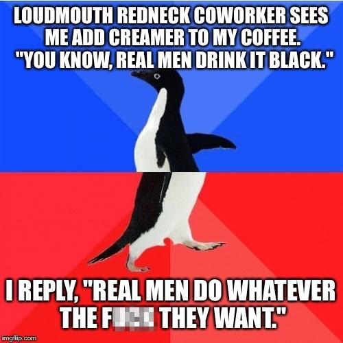 socially awkward awesome penguin coffee - 8603619328