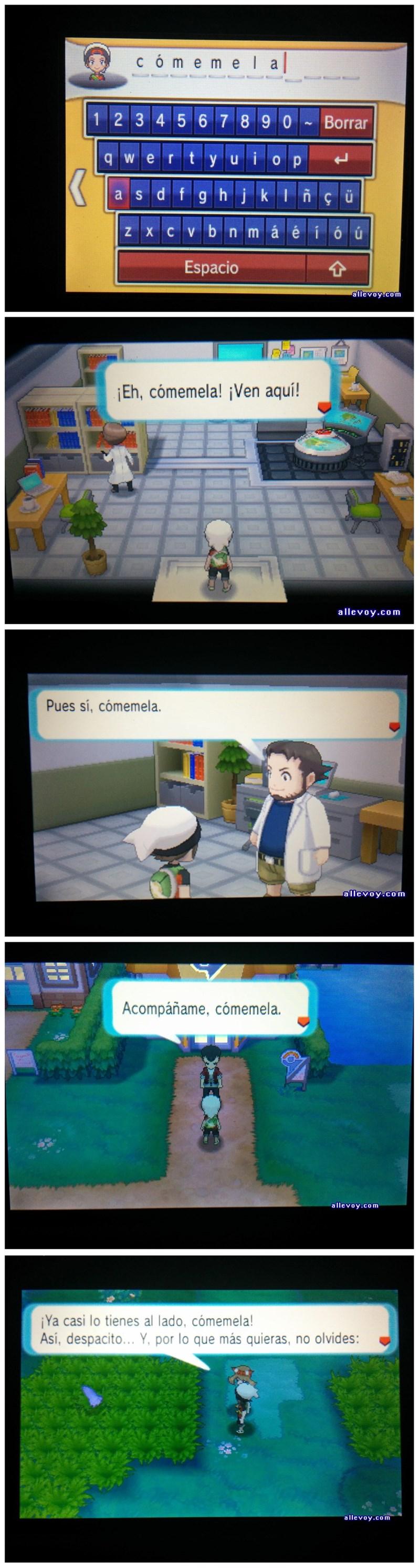 jugando pokemon