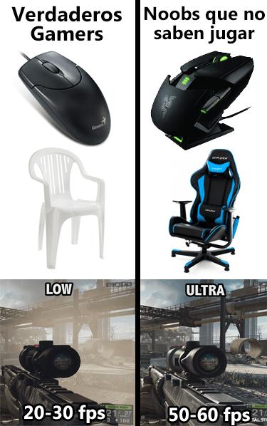 noobs vs verdaderos