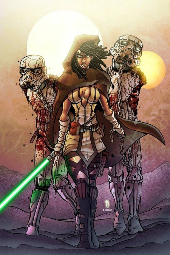 star wars walking dead jedi michonne