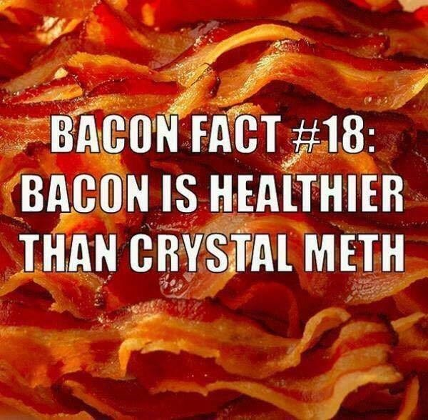 funny memes bacon healthier than crystal meth