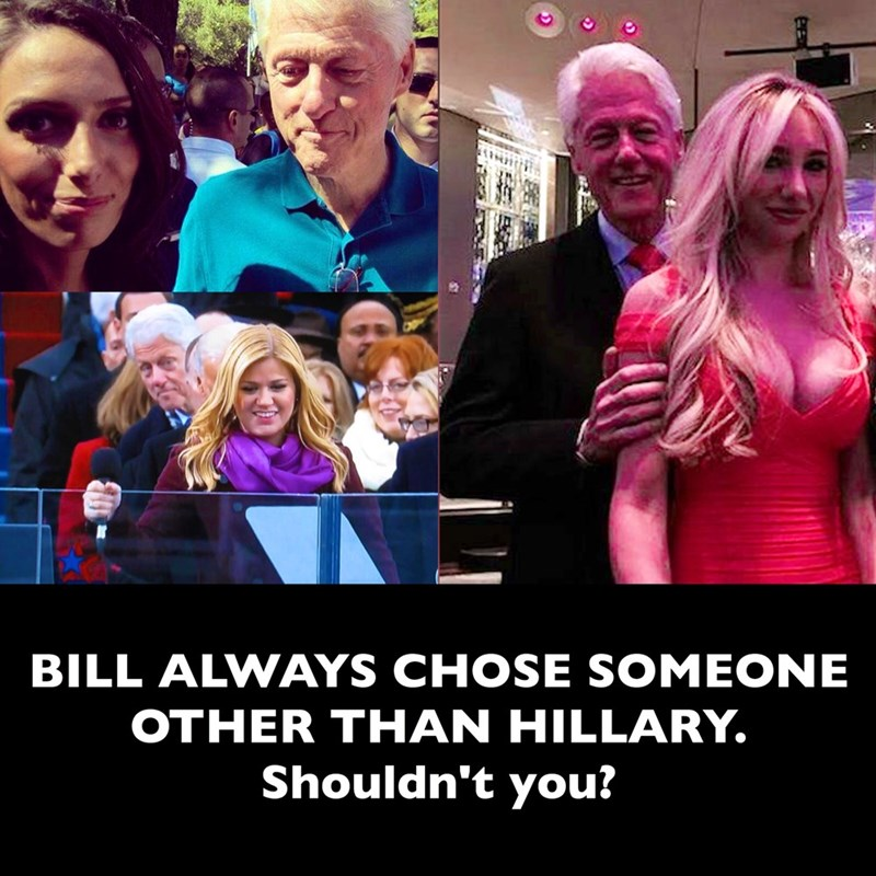 bill always chose someone other than hillary