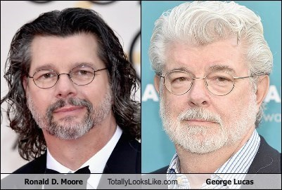 george lucas ronald d moore totally looks like - 8604248832