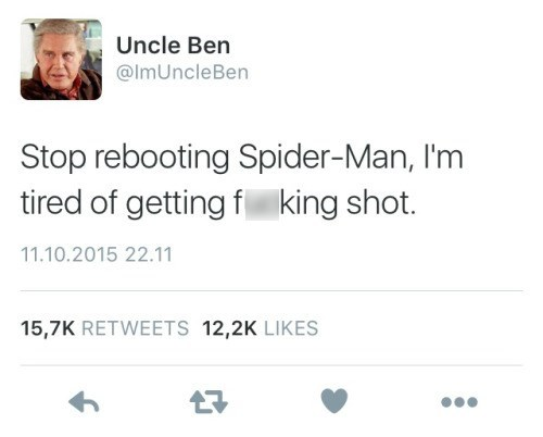 uncle ben superheroes spider-man Listen to the Man, He's Very Wise