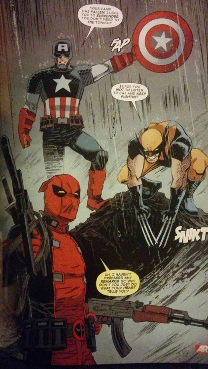 deadpool comic superheroes He is Also Missing a Sound Effect