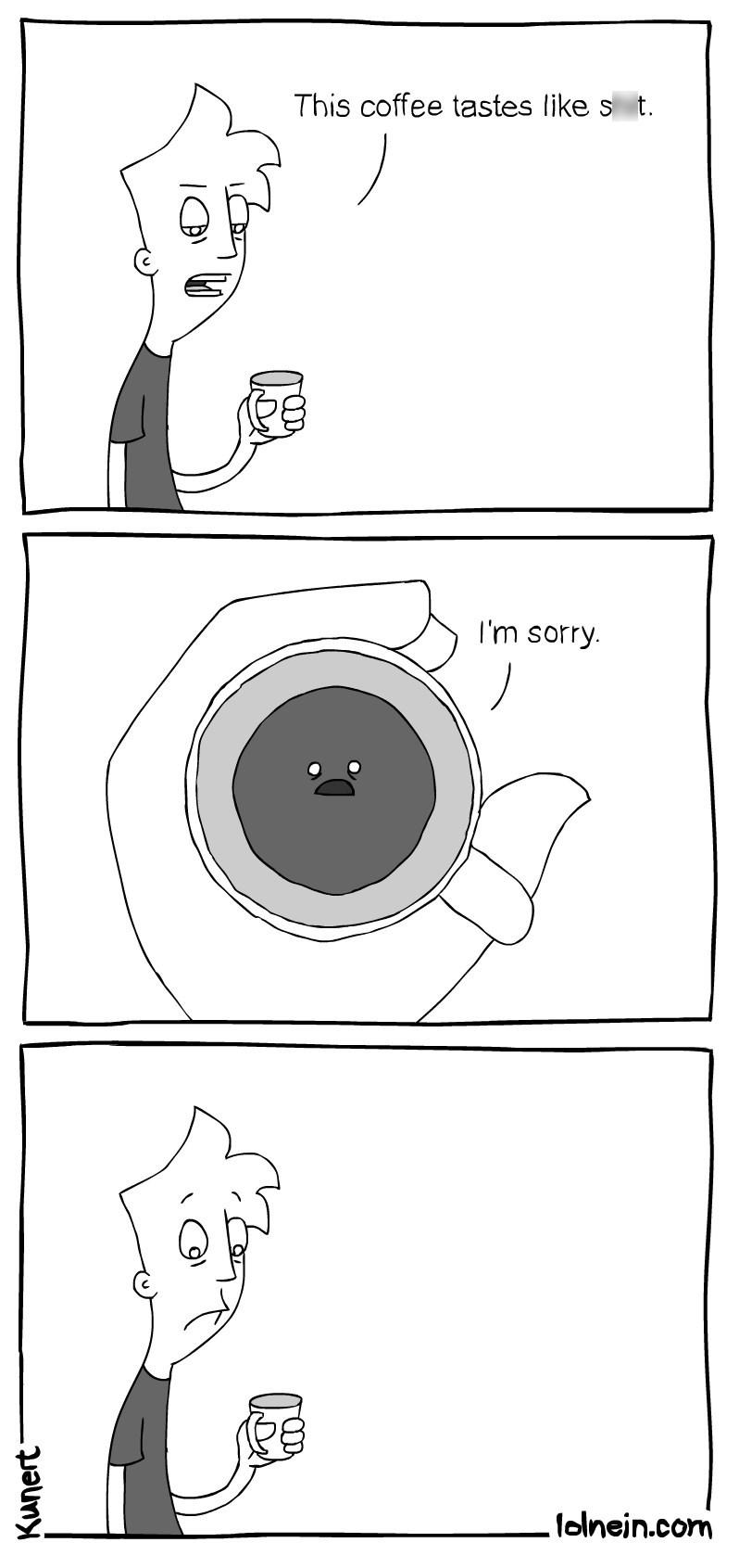 web comics coffee No, I'm Sorry