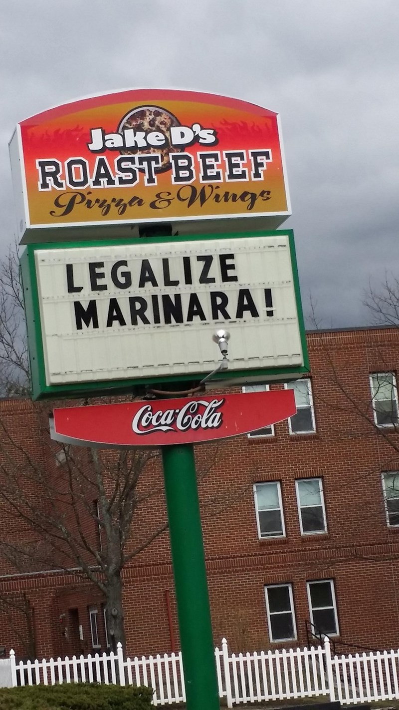 legalize marinara sign
