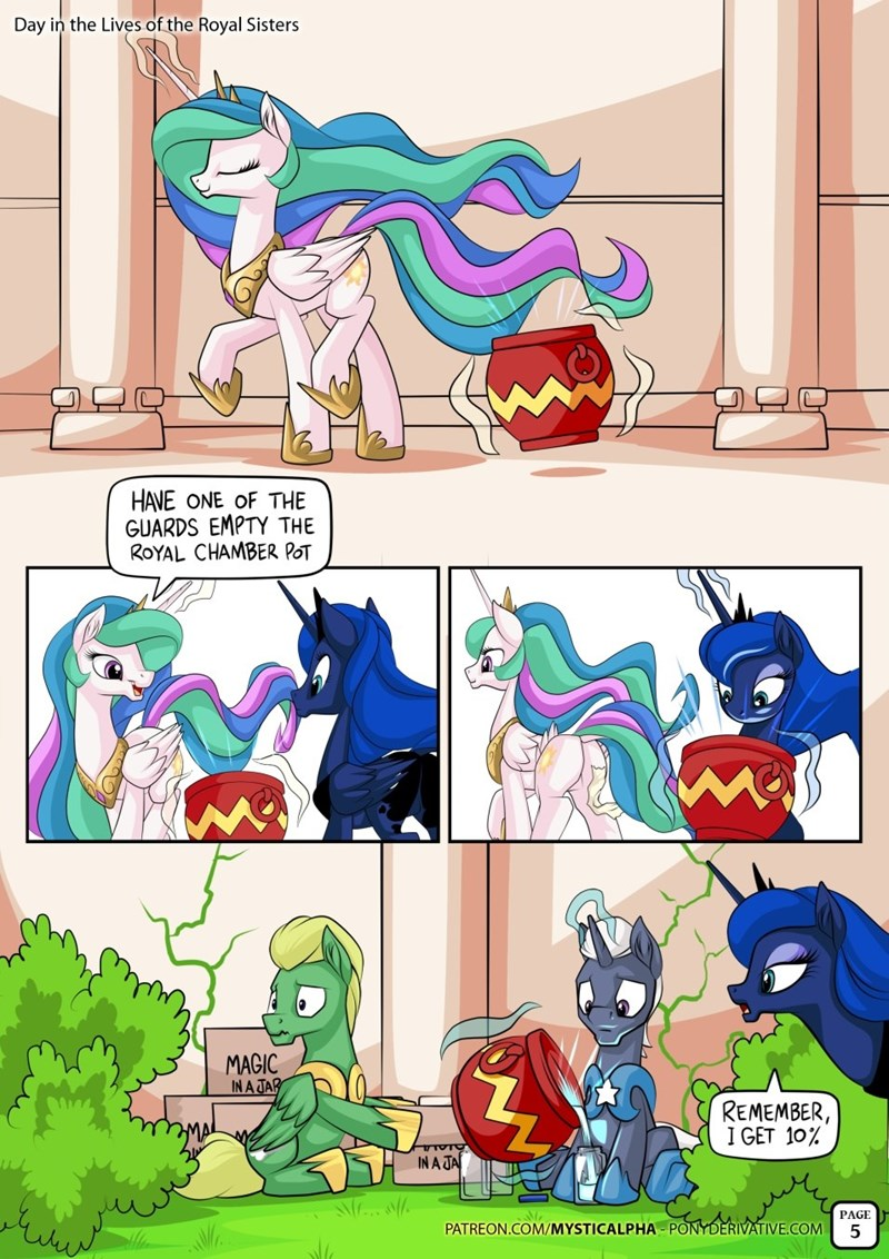 toilet humor princess luna princess celestia - 8604910848