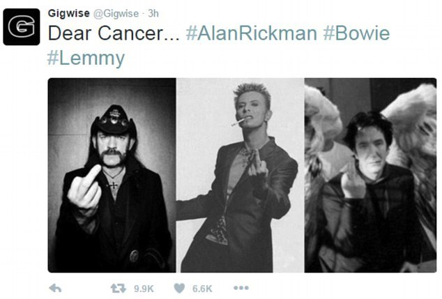 cancer david bowie alan rickman In 2016, Cancer is Taking All Your Favorite Celebrities Away From You