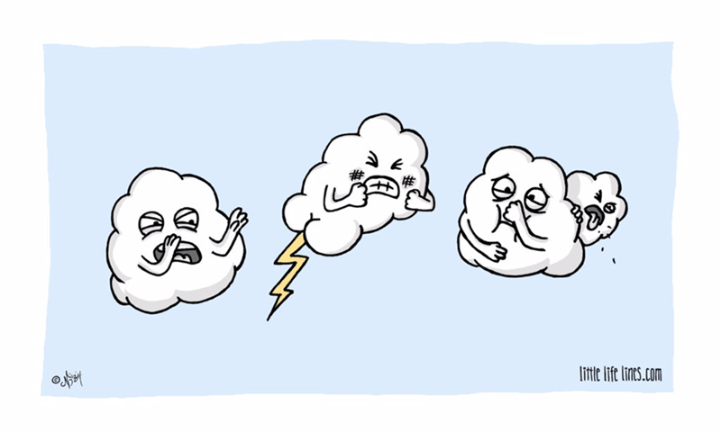 web comics clouds thunder Can't You Go Somewhere Else?