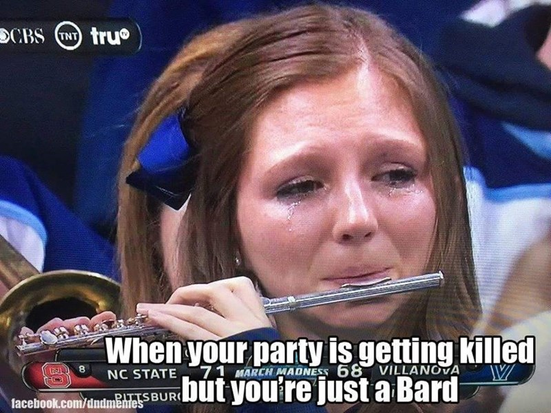 dungeons and dragons memes youre just a bard