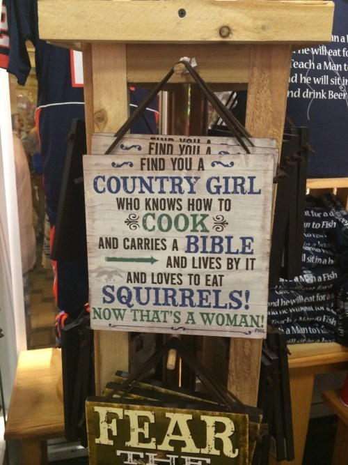 country girl lives to eat squirrels