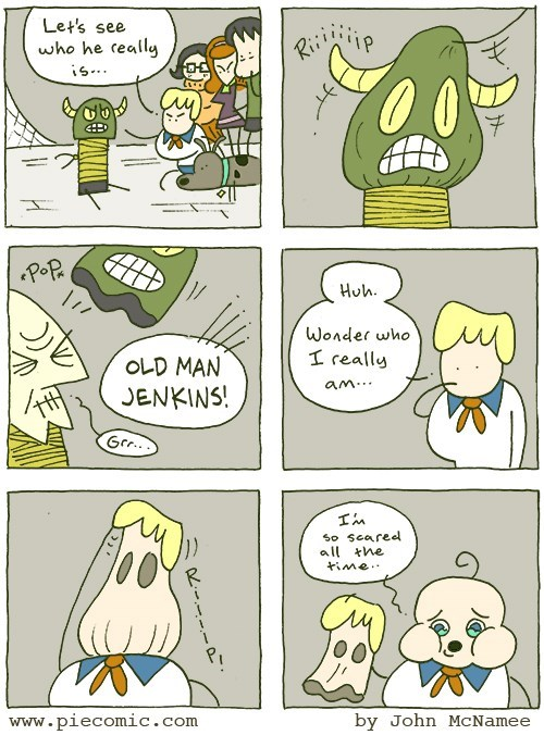web comics scooby doo When Will My Disguise Show Who I Am Inside?