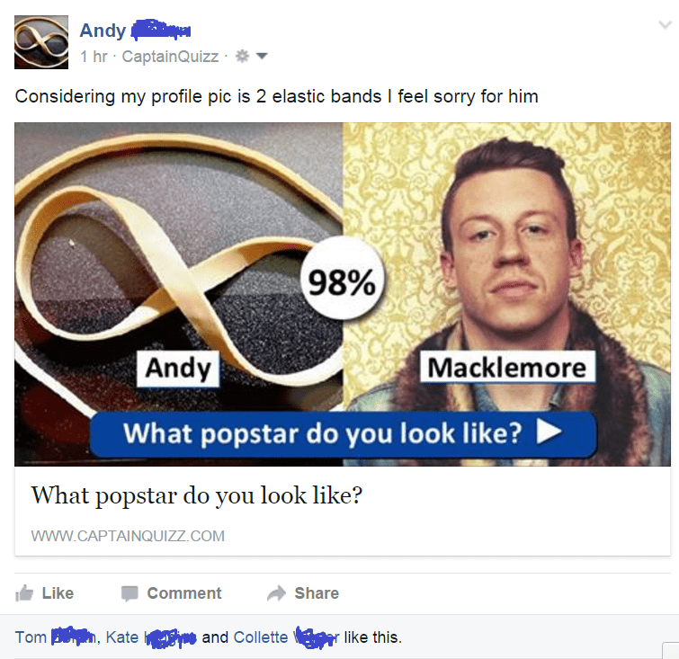 facebook Macklemoore rubberband looks like