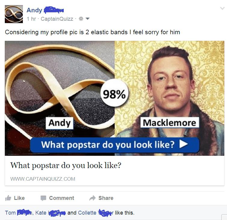 facebook Macklemoore rubberband looks like - 8605066496