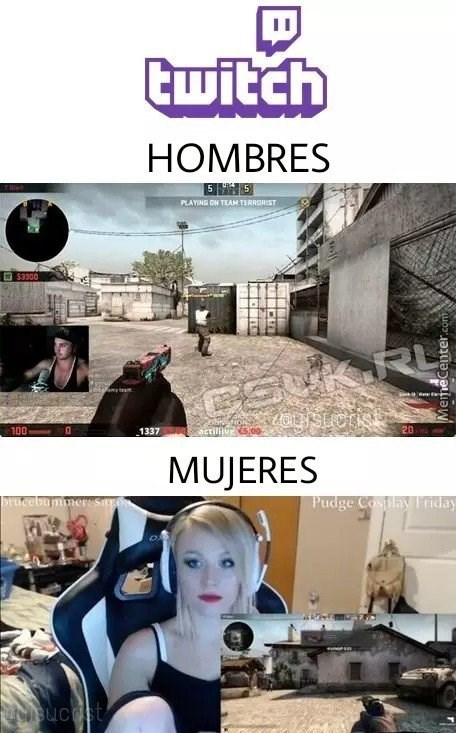 twitch hombres mujeres