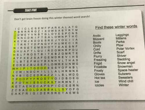 word search winter - 8605535232