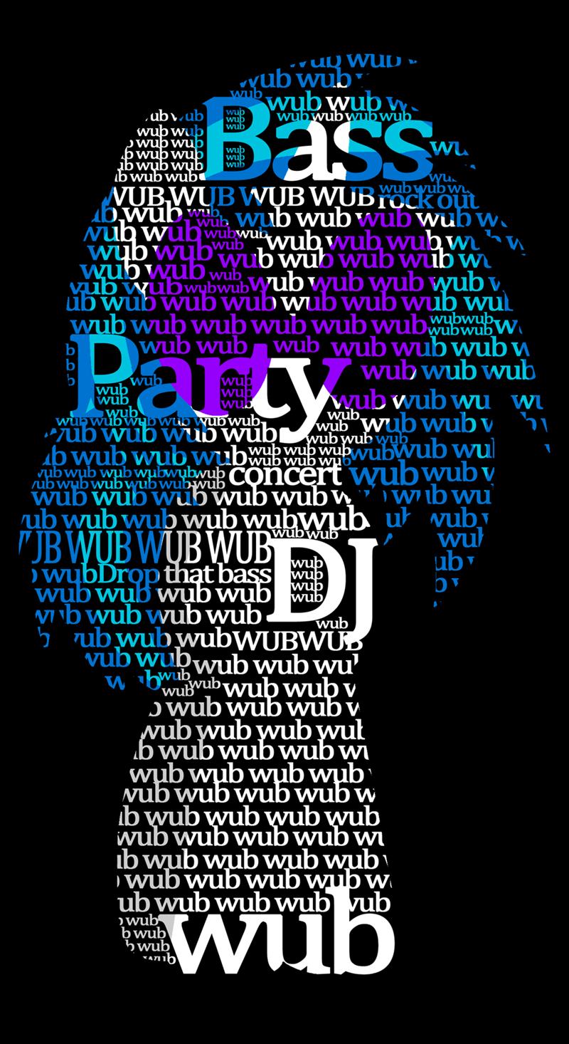wubs vinyl scratch typography - 8605592832