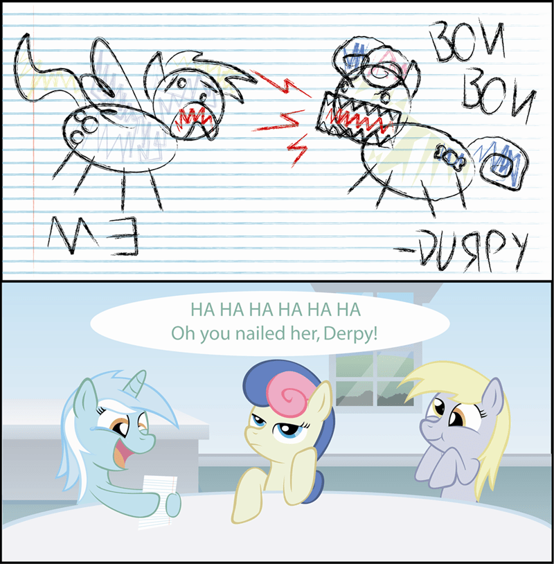 derpy hooves lyra heartstrings bon bon - 8605608960