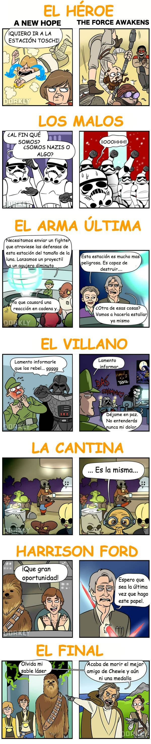 diferencias star wars