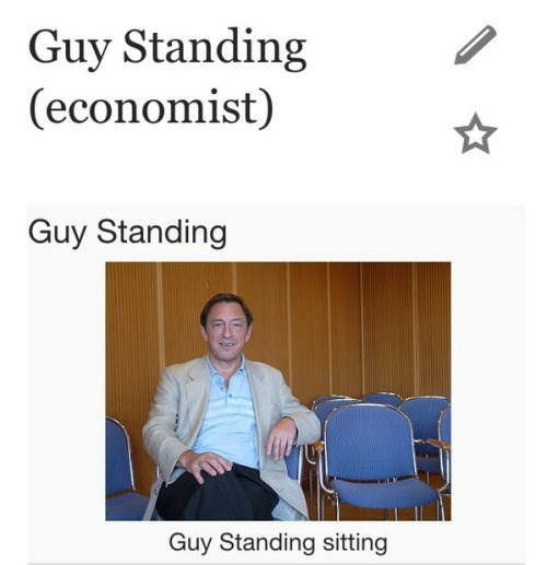 funny puns guy standing sitting