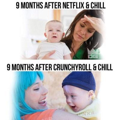 anime memes crunchyroll and chill