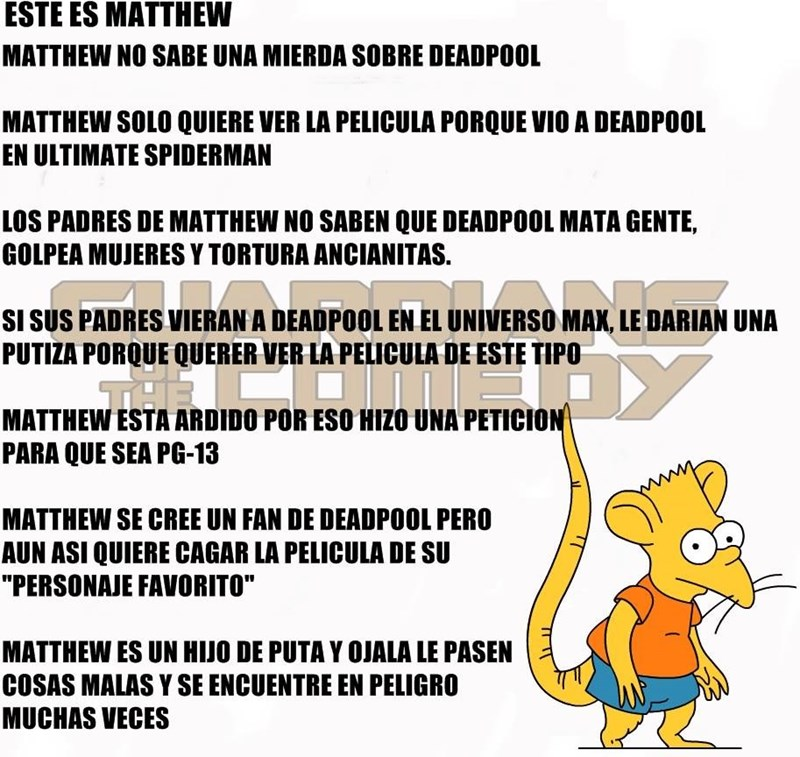 No seas como Matthew