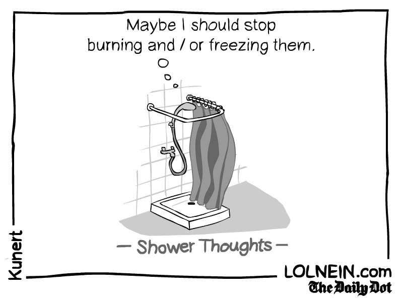 web comics shower thoughts Nah