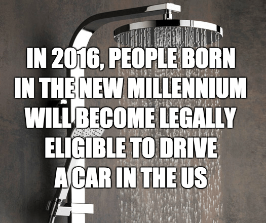 Font - IN 2016, PEOPLE BORN IN THE NEW MILLENNIUM WILLBECOME LEGALLY ELIGIBLE TO DRIVE ACAR IN THE US