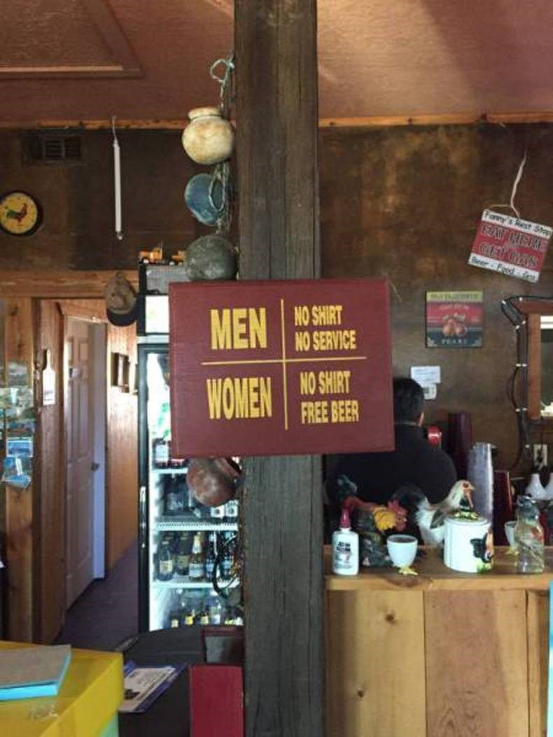 funny sign win bar genders
