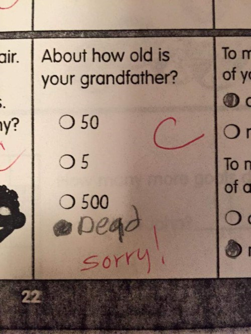 how old is your grandfather dead