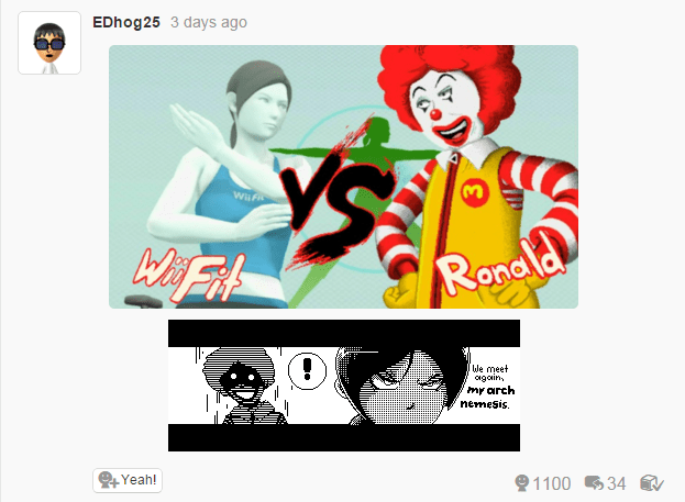 super smash bros McDonald's Fan Art wii fit trainer - 8606408704
