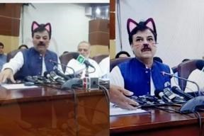 Imran Khan cat snapchat filter mess up