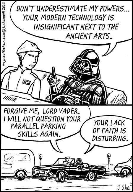 web comics star wars parking But Maybe We Should Get One of Those Backup Cameras for the Car