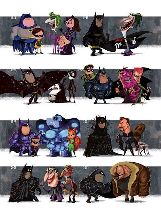 batman fan art Batman and Friends Through the Years