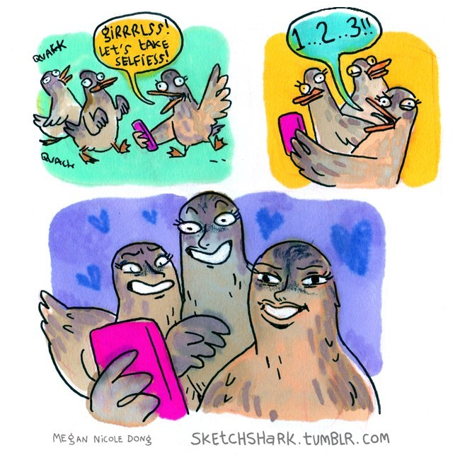 duckface web comics selfie - 8606508288