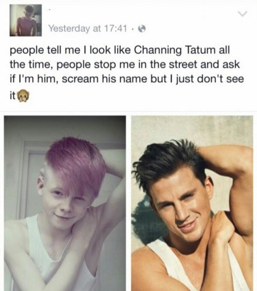 funny facebook fail Channing Tatum is not 12