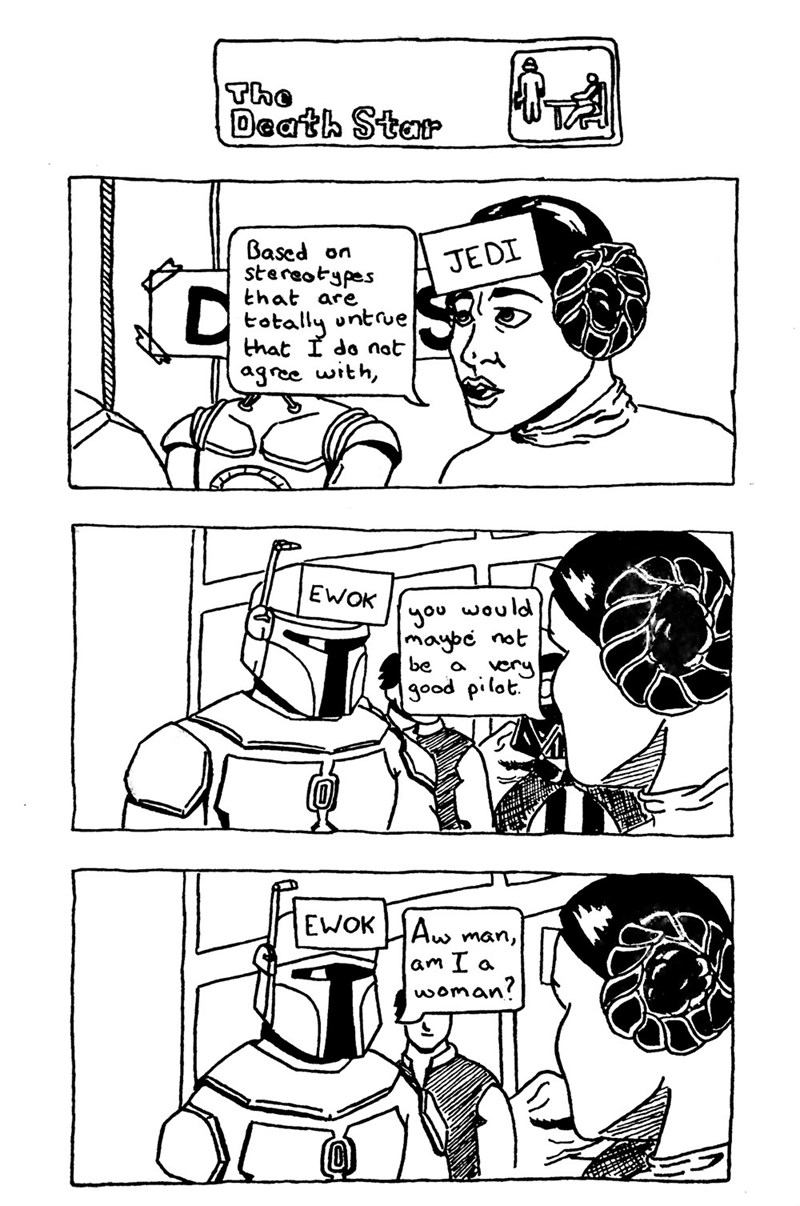 web comics star wars the office Stir the Pot, Leia