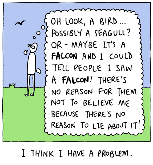 web comics thinking Don't Think, Just Falcon