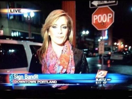 portland sign bandit poop