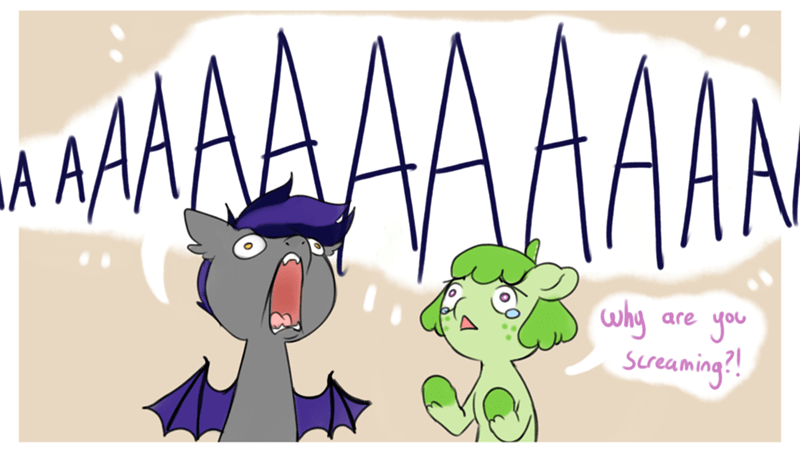 bat pony screaming - 8606836224