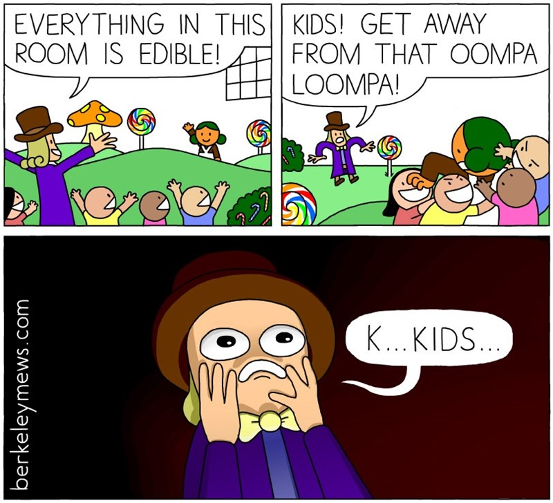 kids these days,Willy Wonka,web comics