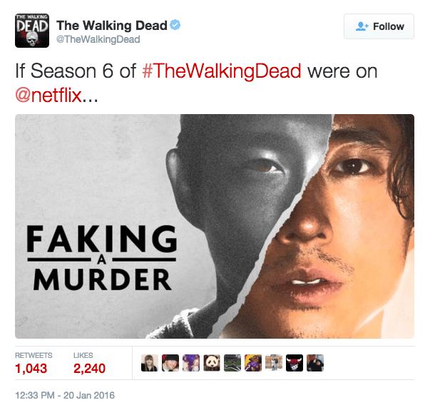 twitter Glenn Rhee making a murderer - 8607107840