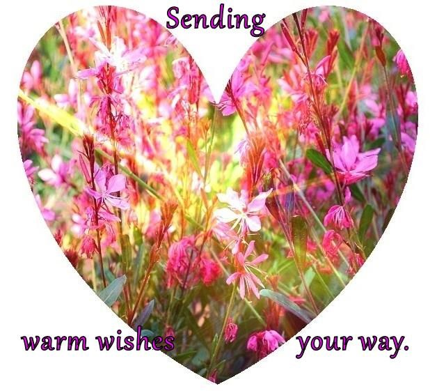 Sending  warm wishes                your way.