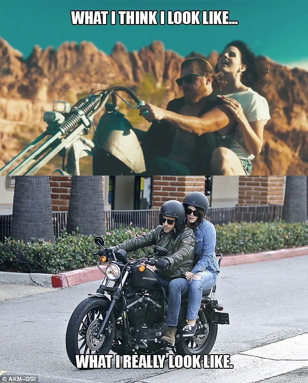 motorcycles,expectations vs reality,lana del rey
