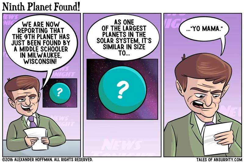 yo mamma joke,planets,web comics